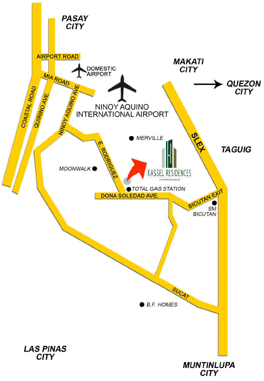 Map Kassel Residences Paranaque